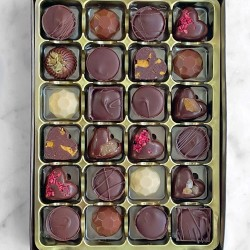 Father's Day Award-Winning Ultimate Chocolate Truffle Gift Box Mix of 24 | Plant-Based & Dairy Free