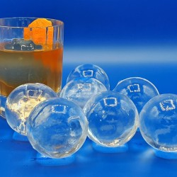 Ice Spheres in Glass