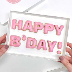 'Happy B'Day!' Letterbox Message Cookies