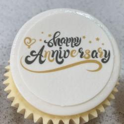 Happy Anniversary Cupcakes Gift Box (Box of 6)