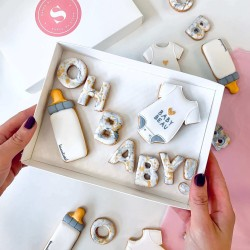 Oh Baby! Marble & Gold Letterbox Cookies (Customisable)