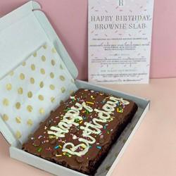 The Birthday Brownie Slab