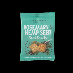 Rosemary & Hemp Seed Snacks - lightly baked bites