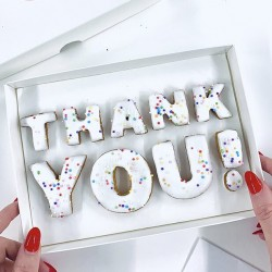 'Thank You!' Letterbox Message Cookies