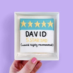 5 Star Dad Letterbox Cookie (Customisable)