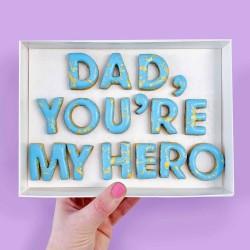 'Dad, You're My Hero' Letterbox Cookies