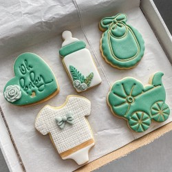 Baby Shower Emerald Green Biscuit Set