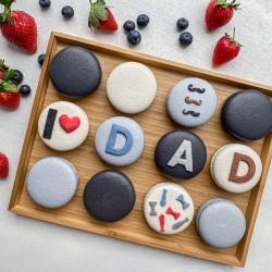Father's Day Macarons (12 Giant Macarons)