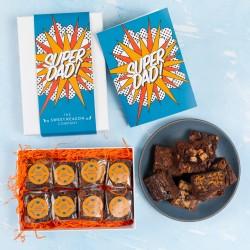 'Super Dad' Luxury Brownie Gift