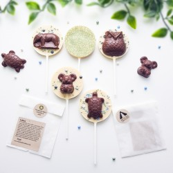 Dairy Free Animal Lollipops Pack of 4