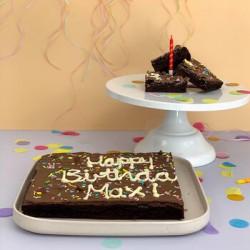 The Super Sized Birthday Brownie Slab