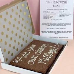 The Custom Message Brownie Slab!