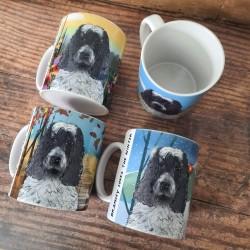 Personalised Set of Four Dog Mugs