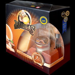 Matured Cheese Gift Set With Honey Jar & Cheese Knife