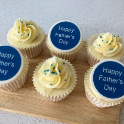 Father's Day Message & Sprinkles Gift Cupcakes