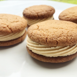 Salted Caramel Cookie Sandwiches (Vegan) - Box of 4