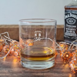 Personalised 50th birthday Whisky Glass