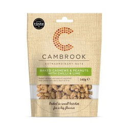 Baked Cashews & Peanuts With Chilli & Lime