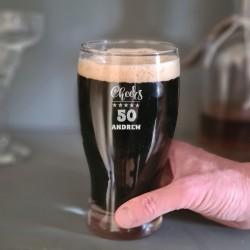Personalised 50th Birthday Pint Glass