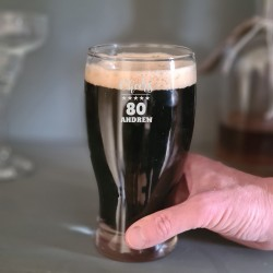 Personalised 80th Biirthday Pint Glass