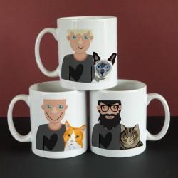 Personalised Cat Dad Mug