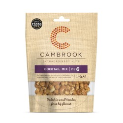 Salted, Smoked, Caramelised & Spiced Mix Of Nuts - Cocktail Mix No 6 (10 packs)