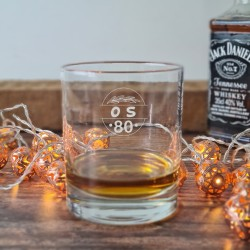 Personalised 80th Birthday Whisky Glass