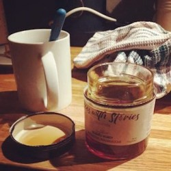 Loyal customer enjoying our BwS Niaouli Honey in Paris!