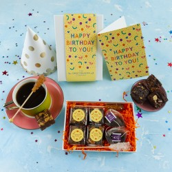 'Happy Birthday Confetti' Gluten Free Afternoon Tea For Two Gift
