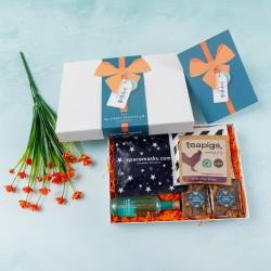 'Happy Birthday Ribbon' Wellbeing, Gin & Treats Gift