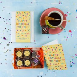 'Happy Birthday Confetti' Vegan Afternoon Tea for Two Gift Box