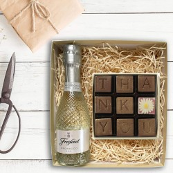 Prosecco And Chocolate Thank You Set
