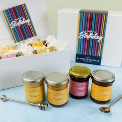 'Happy Birthday Stripes' Luxury Gift Jars
