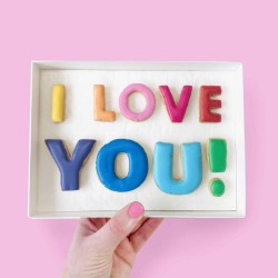 'I Love You!' Rainbow Letterbox Cookies