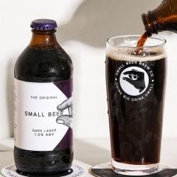 Small Beer Dark Lager - Lower Alcohol Beer 1.0% ABV (24 Bottles)