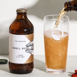 Small Beer Lager - Lower Alcohol Beer 2.1% ABV (24 Bottles)