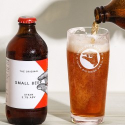 Small Beer Steam - Lower Alcohol Beer 2.7% ABV (24 Bottles)