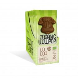 Vegan Coconut Chocolate Lollipops 10 x 15g - Bio