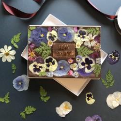 Happy Birthday Fudgy Brownie Gift Box