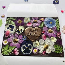 Happy Birthday Highlighted Heart Fudgy Brownie Gift Box