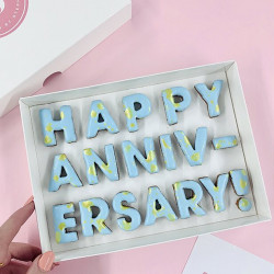 'Happy Anniversary!' Letterbox Message Cookies