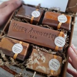 Personalised Happy Anniversary Fudge Gift Box