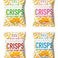 Banana Crisps Taster Bundle (Pack of 4, 1 of each flavour)