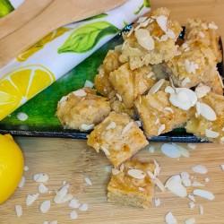Lemon & Almond Gourmet Blondie Bites, 18 pieces, Luxury Letterbox Brownies, Postal Cakes, Personalised Gift