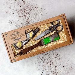 Artists Chocolate Gift Set - Paint Brush, Paint Tube & Scissors Box