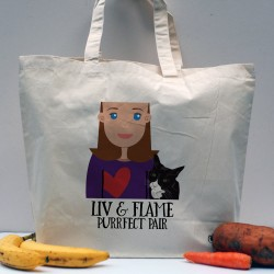 Personalised Cat Lady Tote Shopping Bag