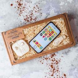 Chocolate iPhone, Charger & Earphones Gift Box
