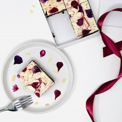 Cherry And Almond Floral Brownies
