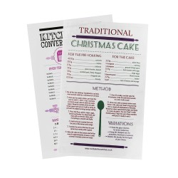 christmas cake recipe kitchen conversion tea towel gift set