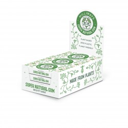 Super Natural Gum - Mighty Mint Chewing Gum 12 Packs of 10 Pieces (120 Pieces Total)